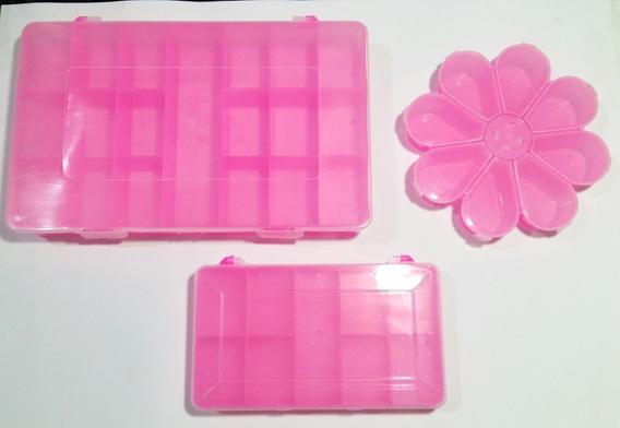 Kit Caixas Organizadora Com Divisórias - Plástica