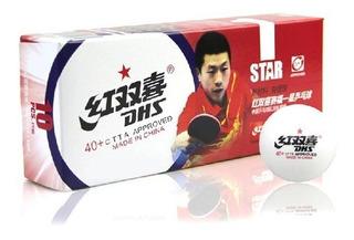 Paquete De 10 Bolas De Tenis De Mesa Dhs 1 Estrella 40+