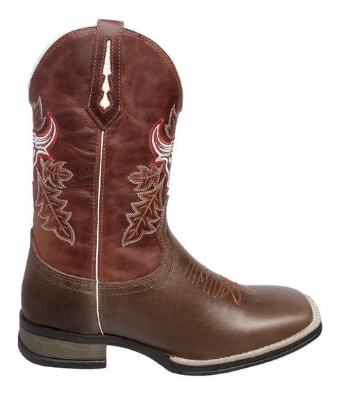 Bota Texana Masculina Bico Quadrado Cano Longo Ródeo Country