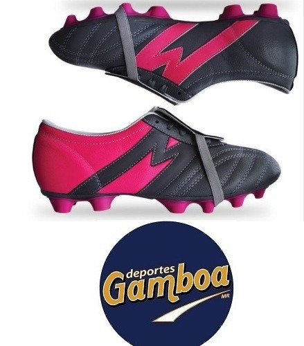 Zapatos Fútbol Eclipse Gris Fucsia Manriquez ¡envío Gratis!