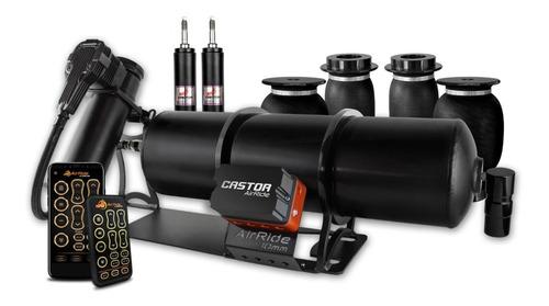 Kit Air Ride Super Black 10mm + Mangueira Prensada - Castor