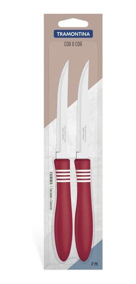Cuchillo X12 Cor & Cor Negro Tramontina Acero Inox Cubiertos