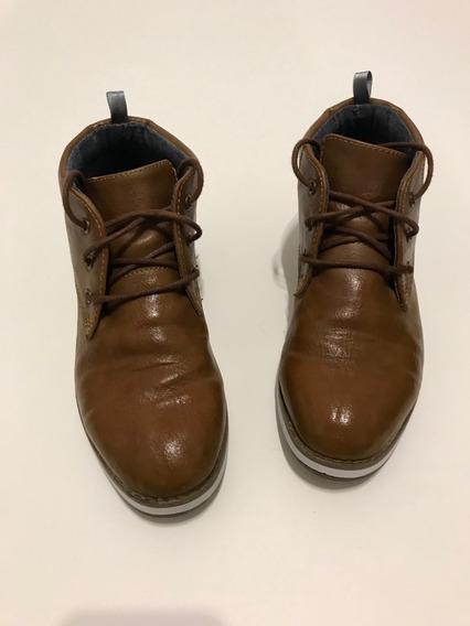 Zapatos Botitas Cuero Marca Old Navy Usa Niño Varón T. 30/31