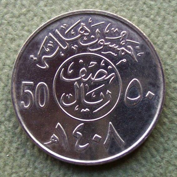 Arabia Saudita - Moneda 50 Halala (1/2 Riyal) 1987 ¡ S/circ!