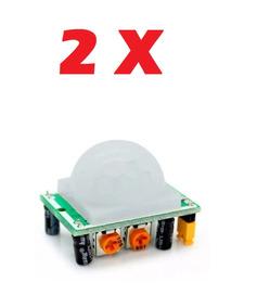 2 X Sensor De Presença Infravermelho Pir Hc-sr501 Arduino