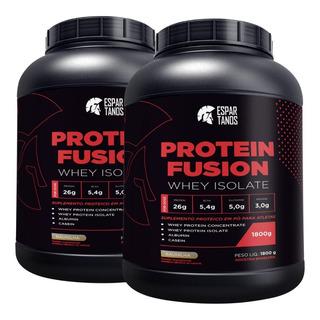 Kit 2x Whey Isolado Protein Fusion Mix 1,8kg - Espartanos