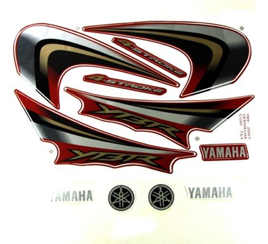 Adesivo Moto Yamaha Ybr125 2007 Vermelha