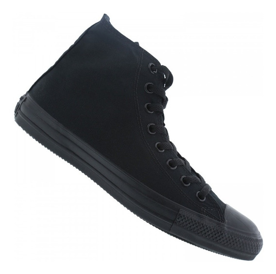 Tênis Converse All Star Monochrome Hi All Black Unissex