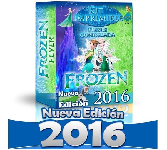 Kit Imprimible Candy Bar Frozen Fever 4x1 Mas Regalitos