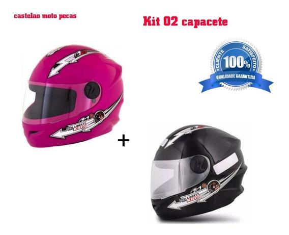 Kit 02 Capacete Infantil Pro Tork Liberty Kids 54