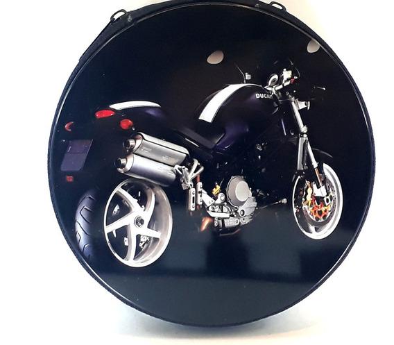 Porta Cd E Dvd Motos Ducati Azul Estojo Metal 24 Dvd