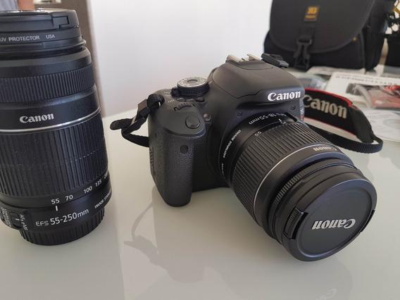 Câmera Canon T3i Kit Completo Com Lente 55-250mm