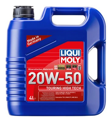 Aceite De Motor Liqui Moly 4 Litros 20w50 Mineral Touring Hi