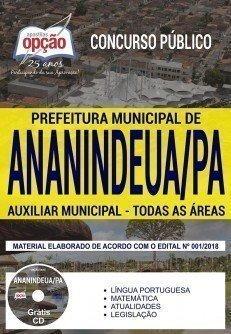 Apostila Prefeitura De Ananindeua Pa 2018 Auxiliar Municipal
