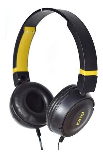 Auricular Sin Microfono Negro Tipo Vincha Kanji Kj-shblack