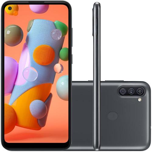 Imagem 1 de 5 de Celular Samsung Galaxy A11 Preto 64gb Tela 6.4 Camera Tripla