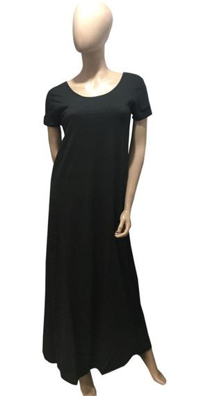 Vestido Maxi (art 049) Con Bolsillos Y Volado-algodon 1 Al 7