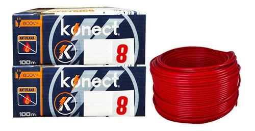 Imagen 1 de 2 de Cable Electrico Cca Konect Calibre 8 Rojo 100 Metros 2 Pzs