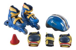 Set De Roller C/ Casco Proteccion Lamborghini Babymovil 7301