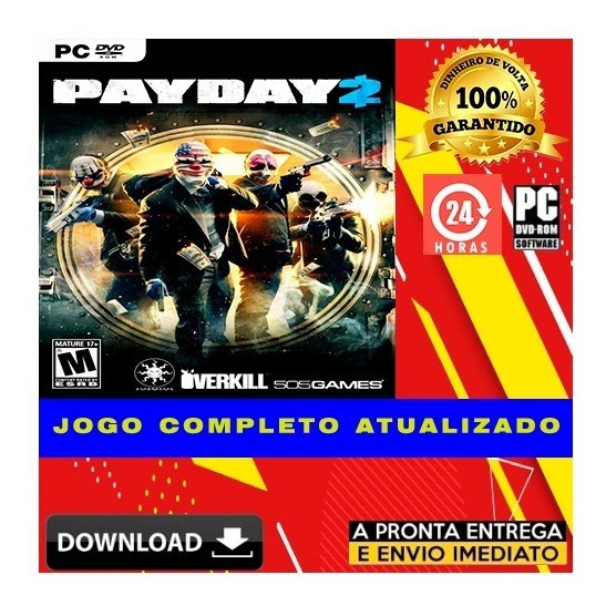 Payday 2 - Pc - Completo - Digital + Todas Dlcs + Brinde