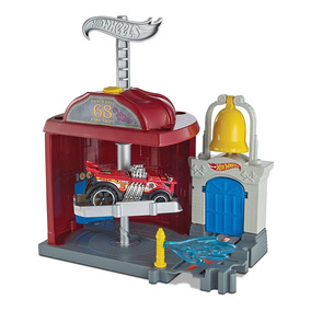 Pista Hot Wheels - City Downtown - Fire Station Spinout - Ma