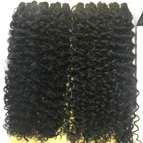 Cabelo Telado Afro Cacheado Orgânico 70cm 130gr 4 Telas