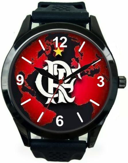 Relógio Pulso Esportivo Flamengo Barato Masculino Promoção