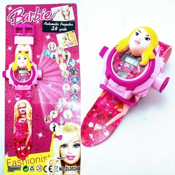 Relógio Digital Infantil Barbie Projetor + Brinde