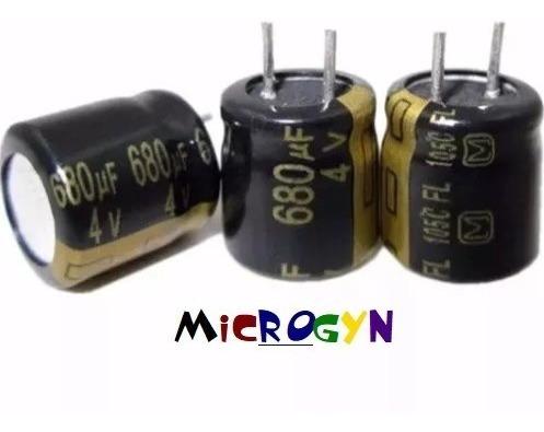 Capacitor Eletrolítico 680uf X 4v 105°c (8x8mm) (kit 12 Un.)