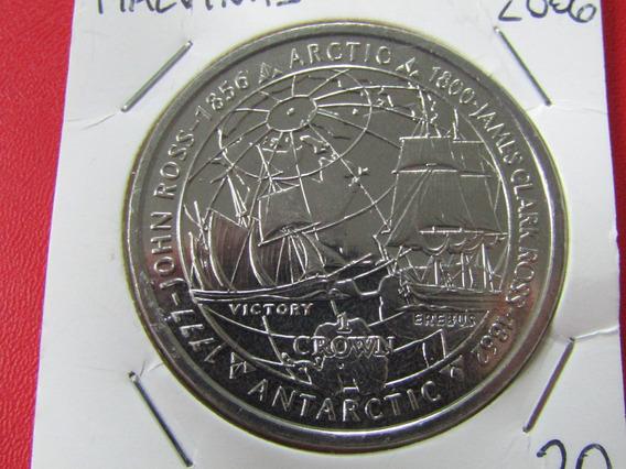 Islas Malvinas Moneda 1 Crown 2006 Unc Artic & Antartic