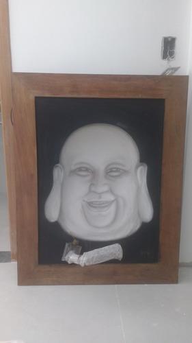 Quadro Buda 3d 99x79cm Original Do Artista Dijaya - Único!