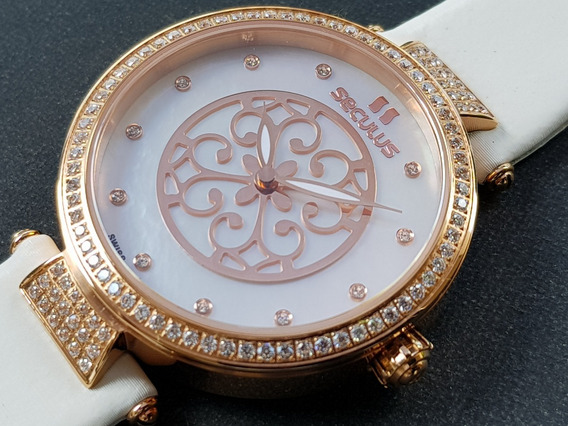 Relógio Feminino Seculus 1708lwrstb Swiss Made