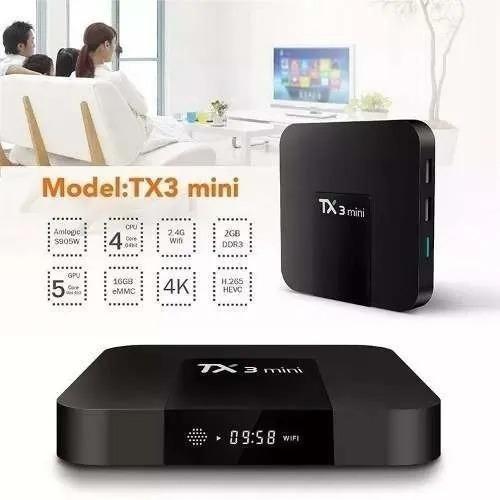 Tvbox Tx3 Mini Quadcore 2gb Ram 16gb Rom Com Bluetooth