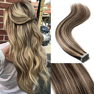 20 Inch Remy Human Hair Tape In Hair Extensions 100g 40pcs