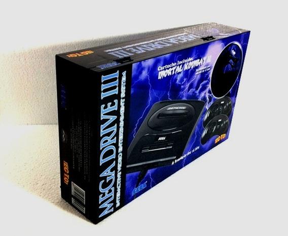 Caixa Vazia Mortal Kombat - Mega Drive Em Madeira Mdf