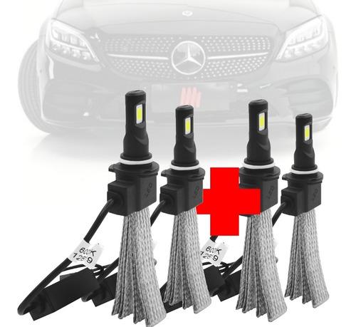 Imagem 1 de 7 de Combo Lampada Led Flex H7 H1 Mercedes C200