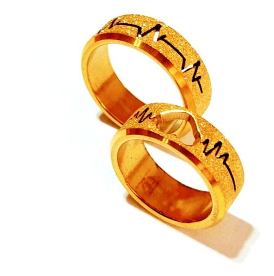 Aliança De Noivado Folheada A Ouro Puro - Banhada A Ouro