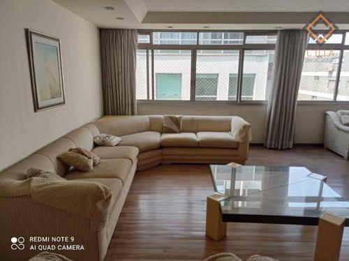 Apartamento Com 3 Dormitórios À Venda, 196 M² Por R$ 1.650.000,00 - Higienópolis - São Paulo/sp - Ap49860