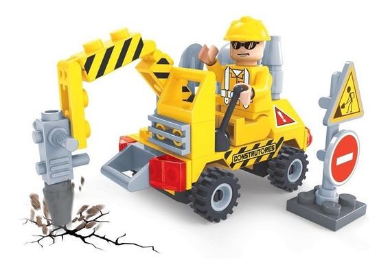 Brinquedo P/ Montar - Construtores Britadeira - 70 Peças