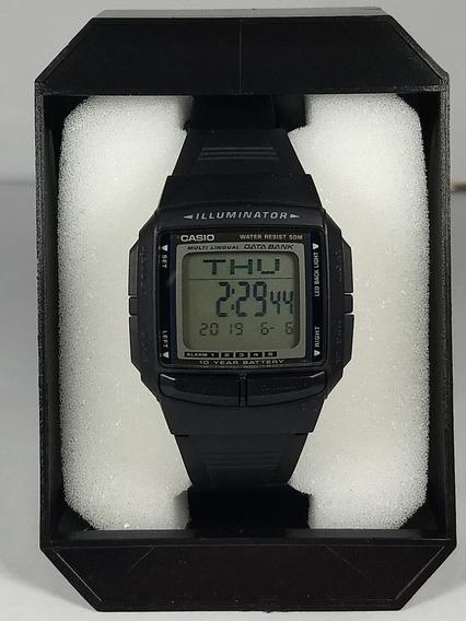 Relógio Casio Data Bank Db 36-1av Borracha 30 Memória