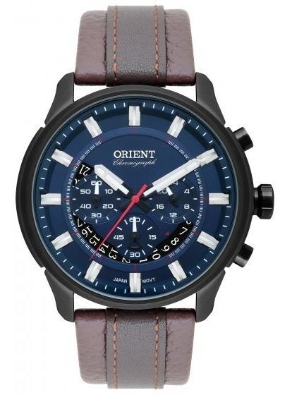 Relógio Orient Mpscc007 D1nx Masculino Azul Couro - Refinado