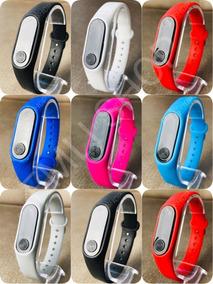 Kit 10 Relógio Pulseira Silicone Digital Led Bracelete Lindo