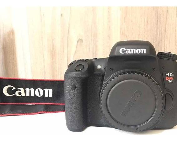Canon T6s(corpo) + Lente 18-135mm + 2 Baterias Originais Novissima