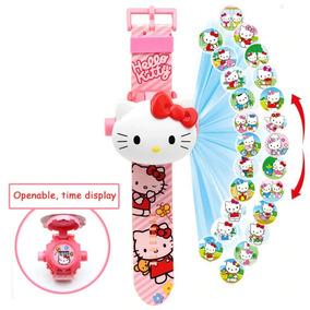 Relógio Brinquedo Infantil Hello Kitty Projeta 24 Imagens