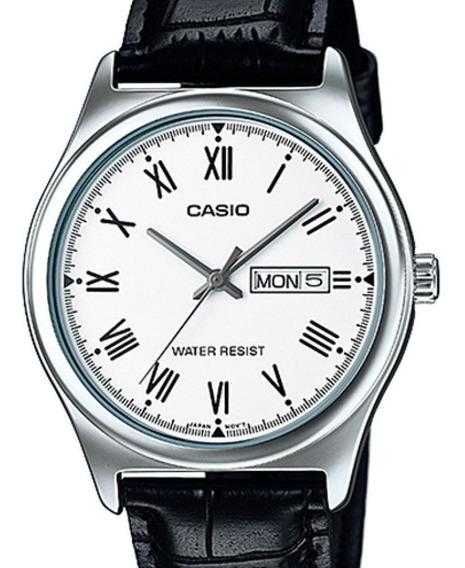Relógio Casio Masculino Classico Couro ( Numeros Romanos)