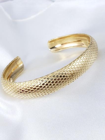 Vivara Pulseira Bracelete Píton De Ouro Amarelo Com Escamas