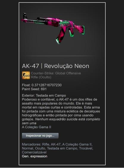 Skin Cs Go Ak-47 | Revolução Neon Ft