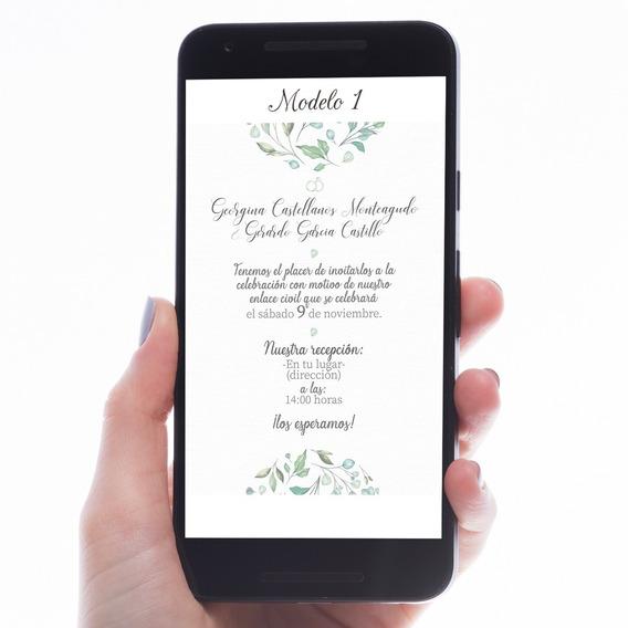 Invitación De Boda Digital, Diseños Personalizados