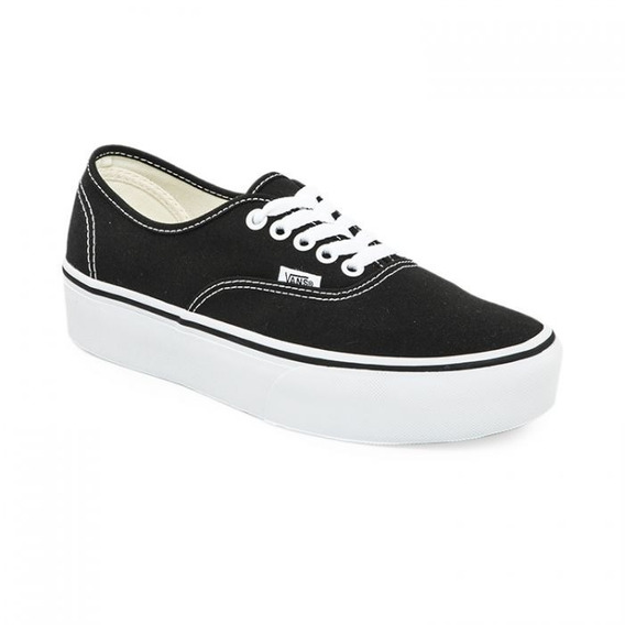 Zapatillas Vans Mod Authentic Plataforma Negra/blanco!!!
