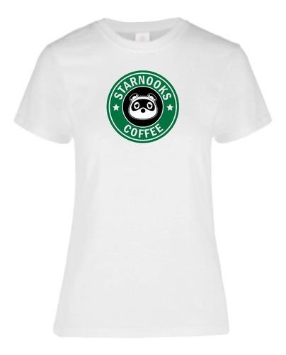 Imagen 1 de 1 de Playera Impresa  Tom Nook Coffee  Para Dama